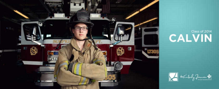 Firefighter Senior Photography Surprise Senior Photographer