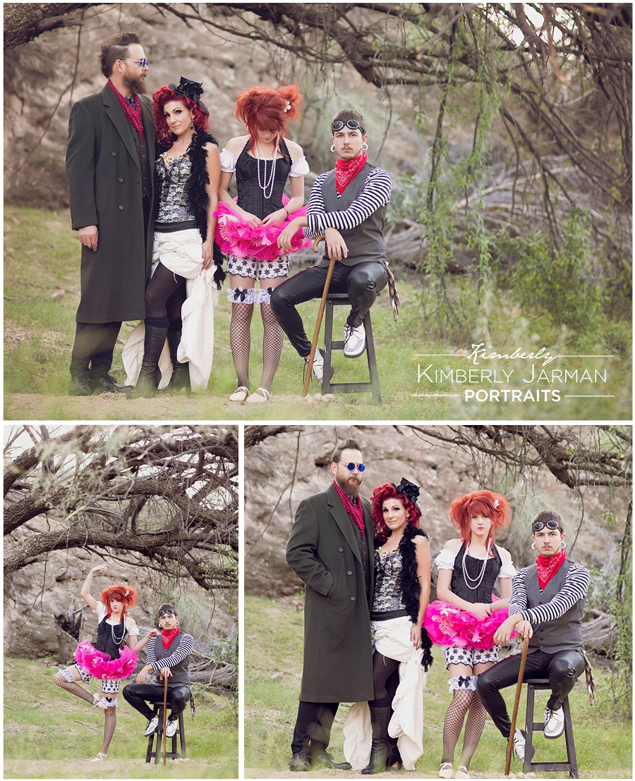 Scottsdale Family Session with a Carnival Edgy Theme